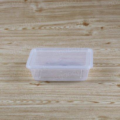 กล่องอาหารเหลี่ยม 650 ml+ฝาสีใส